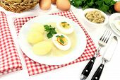 Mustard Eggs With Potatoes And Smooth Parsley