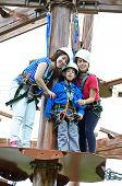 Sisters And Brother On The Roap Course Sky Trail
