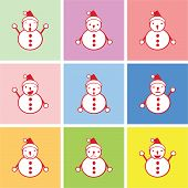snowman graphic with happy and other emotions