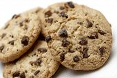 Group of chocolate chips cookies.
