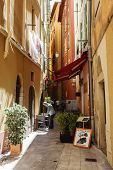 Narrow Streets In The Old Town Of Nice, France