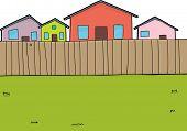 Suburban Backyard Background