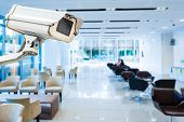 picture of cctv  - CCTV or surveillance operating in office building - JPG