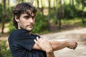 Portrait Of Man Practicing Sport