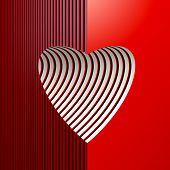 symbolic valentine heart, 3d render