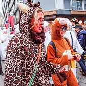 Cologne,North Rhine-March 3: more than one million spectators on the streets.Carnival parade on March 3, 2014 in Cologne,Germany.
