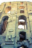 El Jem Coliseum Ruins In Tunisia Fighting Gladiator