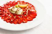 strawberry carpaccio
