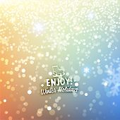 Christmas Snowflakes Blurred Background, vector