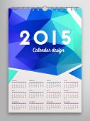 Calendar 2015, Triangle Geometric Pattern Template. Background Design, vector illustration