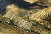foto of jammu kashmir  - aerial view of ladakh landscape light and shadow Jammu and Kashmir India - JPG