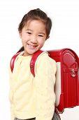 Japanese School Girl Smiles