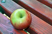 Apple On Bench