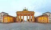 Brandenburg Gate Panorama In Berlin, Germany