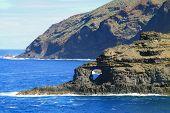 Coast lin of Canary island La Palma