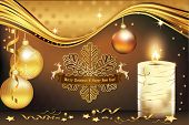Elegant New Year greeting card
