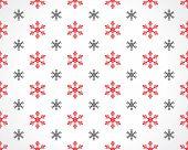 Snowflakes On White
