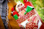 Christmas shopping - Christmas presents (holiday sale)