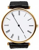 Five Minutes To Five O'clock On Dial Of Wristwatch