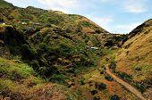 Homes On Mountain Range