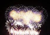 Fireworks In Big Eeuropean City Riga
