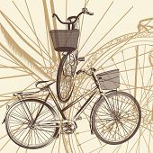 Abstract Background With Bicycle In Vintage Style