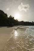 Beach Sunset, Mahe, Seychelles