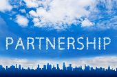 Partnership Text On Cloud