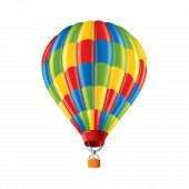 Colored Balloon Isolated On White Vector