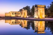 Temple Debod in Madrid, Spain.