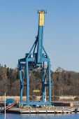 Gantry Crane On The Dock