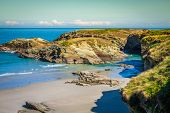 Beach Of Las Catedrales Or As Catedrais, Ribadeo, Galicia, Spain