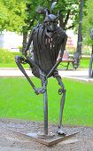 forged figure of pirate in park, Donetsk
