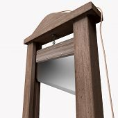 foto of beheaded  - 3d rendering of a guillotine a dead instrument - JPG