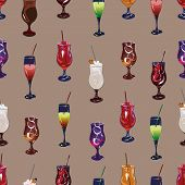 Cocktail party beige seamless pattern