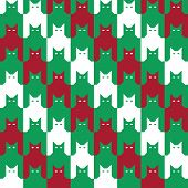 Catstooth Christmas Pattern