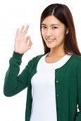 Woman with ok sign