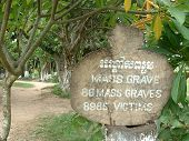 Mass Graves at the Killing Fields in Cambodia