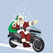Santa On A Motobike