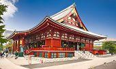 Sensoji-ji Temple in Asakusa district, Tokyo,  Japan.