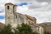 ancient church in Monasterio de Rodilla - Spain