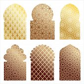 vector islamic window shapes