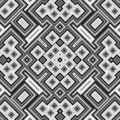 foto of quadrangles  - Seamless black and white geometric background generated from squers - JPG