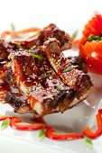 stock photo of baby back ribs  - Hot Meat Dishes  - JPG