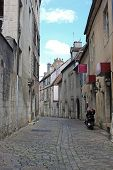 stock photo of annecy  - narrow cobbled street in Annecy  - JPG