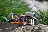 stock photo of modifier  - Picture of a UAV modified drone popular with hobbyists. ** Note: Soft Focus at 100%, best at smaller sizes - JPG