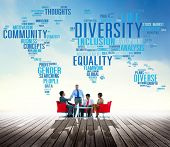 foto of racial diversity  - Diversity Community Population Business People Concept - JPG