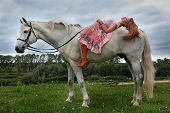 pic of horse girl  - The red - JPG