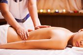 stock photo of therapist massage  - Close - JPG