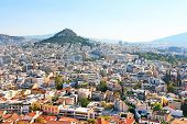 pic of akropolis  - Mt Lycabettus from Acropolis in the morning - JPG